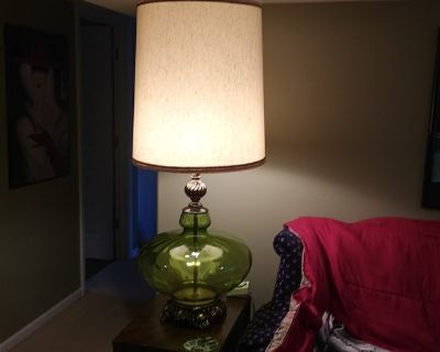 Extra Large Antique MCM Table Lamp