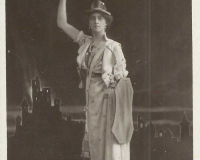 1910s Miss Zena Dare Vintage Real Picture Postcard The Philco Publishing London card in soft plastic sleeve and is inside a hard plastic sl