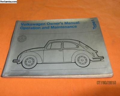1972 bug owner's manual
