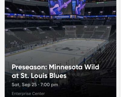 Blues tickets: 3 available