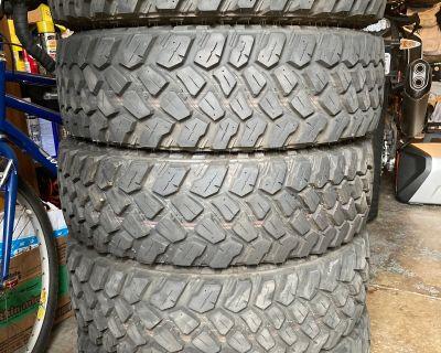 California - 5 Firestone Destination M/T2 tires, 255/75-17, 4100 miles.