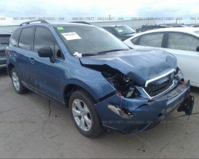 Salvage Blue 2016 Subaru Forester