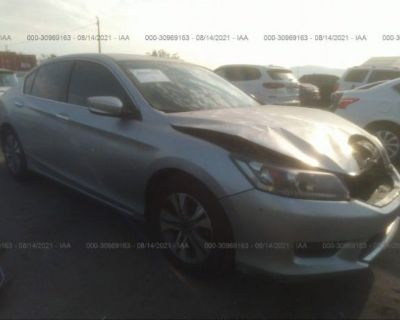 Salvage Silver 2013 Honda Accord Sdn