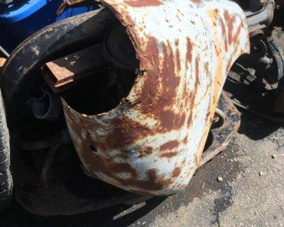 Left front fender headlight section