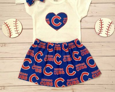 ISO Cubs or Blackhawks dress/outfit in size 3-6 months