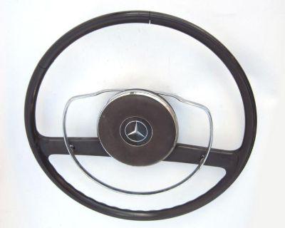 Steering Wheel, Black, Used, 1965 Mercedes-benz 190d Series W110