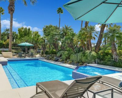 Mid Century Modern Villa Resort pool. 6,200 Sq.Ft. 4 bed 5 bath. Amazing Views. - Rancho Mirage