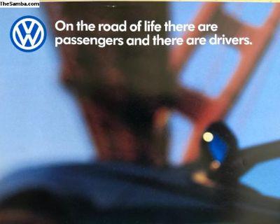 1998 Volkswagen full line poster