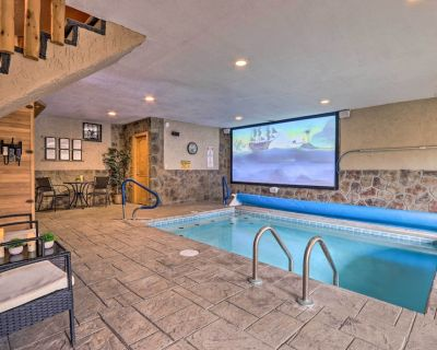 NEW! Luxe Smoky Mtn Cabin: Indoor Pool & Fire Pit! - Pigeon Forge