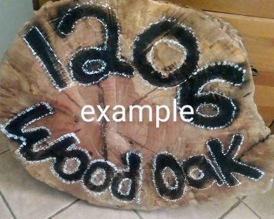 Large Wood Address Sign