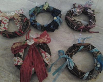 Dollar Days Handmade Crafted Wreathes Made/Assembled by Crafter