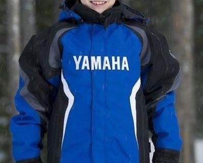 New Yamaha Childrens Yamaha Velocity Snowmobile Winter Jacket Size 04 Smc-14jsx-