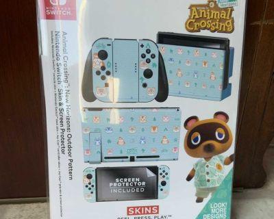 Animal Crossing: New Horizon Outdoor Pattern Nintendo Switch Skin Bundle