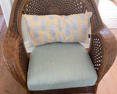 Classic pier Imports wicker and wood Chair