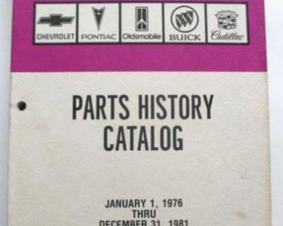 1976-1981 Chevrolet Oldsmobile Buick Pontiac Cadillac Parts History Book Camaro+