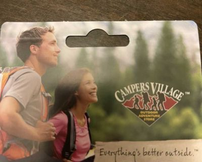 $50 Campers village gift card for trade