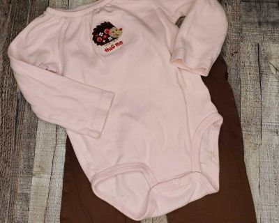 24 month long sleeve onesie and bottoms