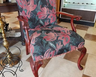 Vintage Accent Chair w/ Fresh Upholstery