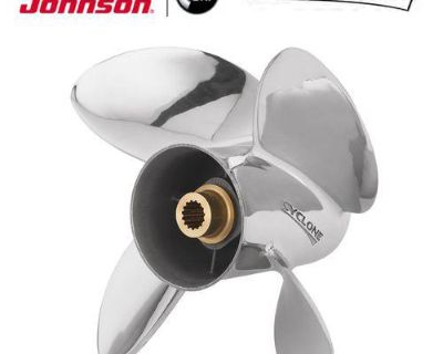 Johnson Evinrude Cyclone Stainless Steel 4 Blade Propeller 14.13 X 19p 0763942