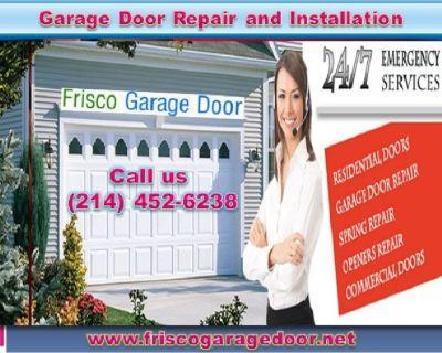 24/7 Emergency New Garage Door Installation Service in 75034, TX   $25.95
