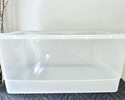 Free Sterilite Plastic Storage Box No Lid Size: 30 Quart