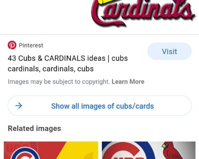 Cubs/Cards 4 Season Tickets June 13th ESPN Game!