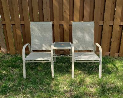 Patio chairs w/ attached table