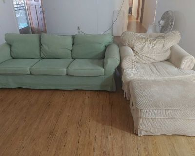 Free Ikea ektorp sofa couch and chair bromma ottoman