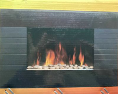 Electric fireplace for wall