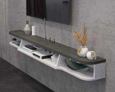 Modern wall mounted tv shelf