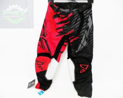 Fly Racing Kinetic Shock Pants Red/black New Size 28 Waist