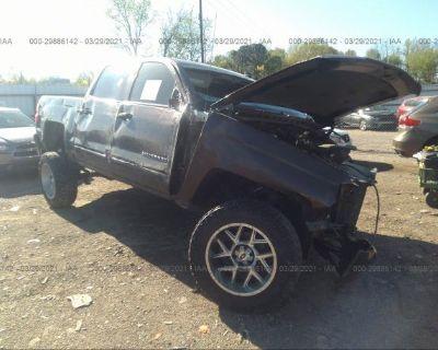 Salvage Dark Brown 2016 Chevrolet Silverado 1500