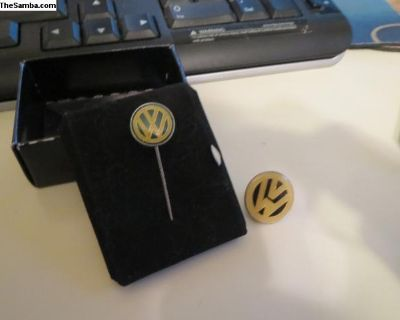 Vintage VW Dealer Lapel Pins