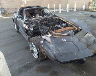 Salvage Black 1977 Chevrolet Corvette