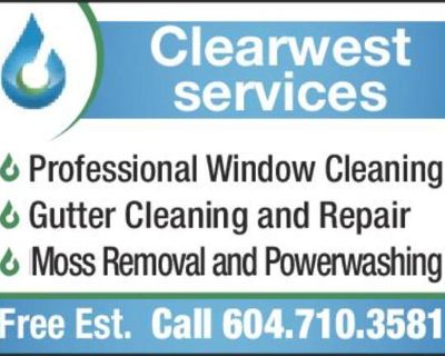 6 Professional Window Cleaning 6 Gutter Cleaning and Repair 6 Moss Removal and Powerwashing