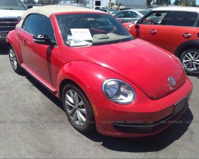 Salvage Red 2014 Volkswagen Beetle Convertible