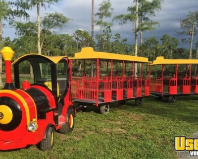 Brand New GOPO Trackless Train with John Deere Clean Diesel Engine for Sale Florida!