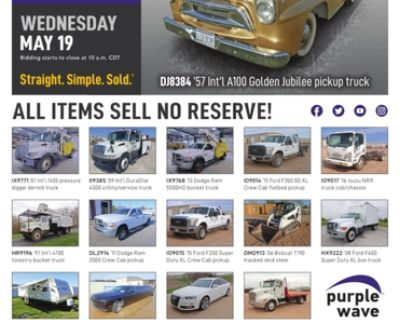 May 19 vehicles and equipment auction