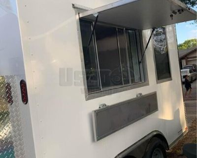 2020 8.5' x 12' Mobile Kitchen Concession Trailer with Fire Suppression System