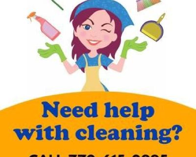 House cleaning services in Cobb County Georgia only