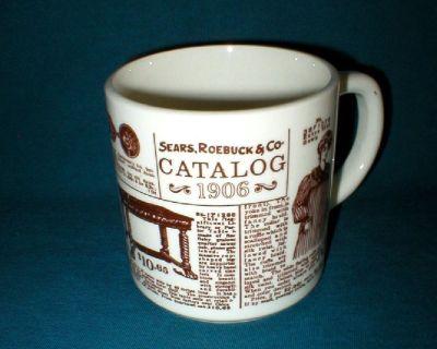 Vtg Sears, Roebuck & Co Advertising Coffee Mug - 1906 Catalog Ads - USA
