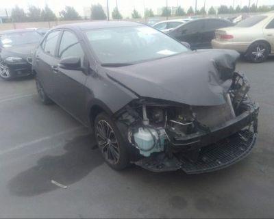 Salvage Black 2016 Toyota Corolla