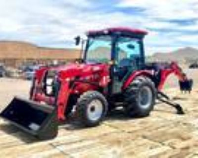 New 2021 TYM Tractors T39HSTC-TLB Cab Tractor Loader Backhoe 40HP 4x4 HYSTAT