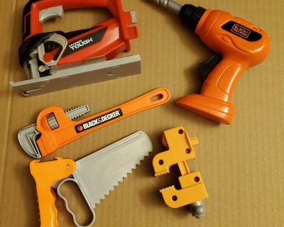 Black & Decker and assorted toy tool lot