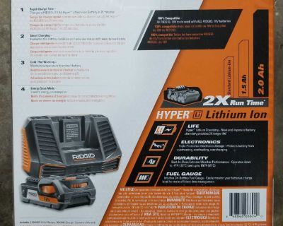 Brand New Ridgid Charger and Battery
