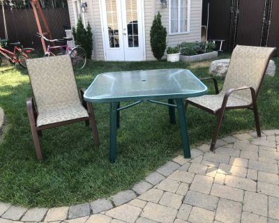 Patio Table Square with 2 Chairs
