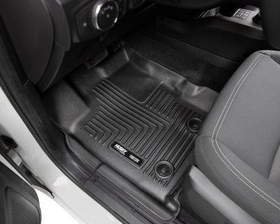 2019-2021 Ford Ranger SuperCrew Husky WeatherBeater Front & Rear Floor Mats (Black)