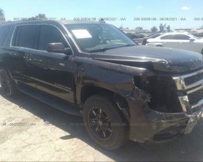 Salvage Gray 2017 Chevrolet Suburban