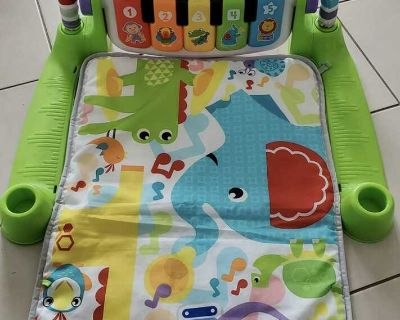 Fisher Deluxe Kick and Play Piano Gym
