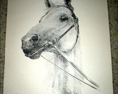 "Horse Print - Signed & Numbered - Limited Ed - ""Trakehner"""